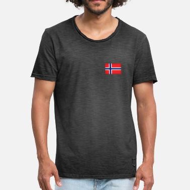 Norwegen Trikot Norway, Norwegen, Trikot, Flag, Football, Gift, - Männer Vintage T-Shirt