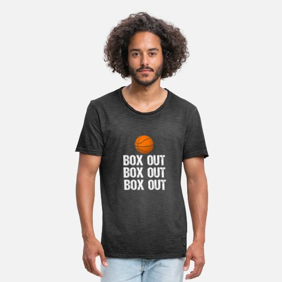 Outlaw T-Shirts - Basketball Coach Box Out Saying - Men's Vintage T-Shirt washed black