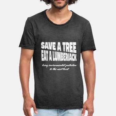 Trees Trees Save Save Nature conservation Environmental protection Eco - Men's Vintage T-Shirt
