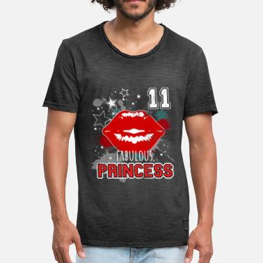 Birthday Kiss 11th birthday princess kiss - Men's Vintage T-Shirt