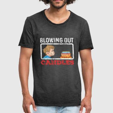 Blowing Out Candles - Men's Vintage T-Shirt