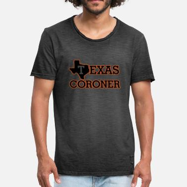 Coronation Texas coroner - Men's Vintage T-Shirt