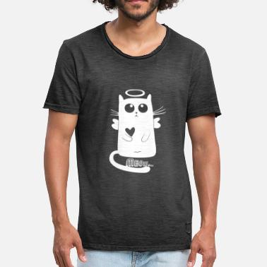 Heartily Cute cat angel gift - Men's Vintage T-Shirt