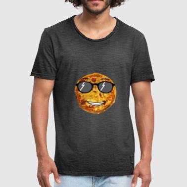 Peperoni Comic cool cheese Pizza Sonnenbrille comic fun shirt - Männer Vintage T-Shirt