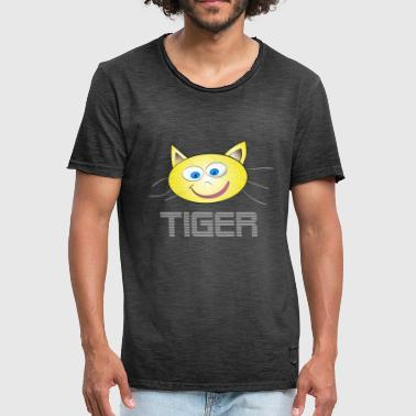 Cat Tiger Tiger cat - Men's Vintage T-Shirt