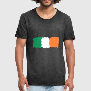 Highrise Building Irish Flag - Men's Vintage T-Shirt