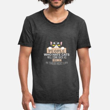 Hate People People Who Hate Cats - Männer Vintage T-Shirt