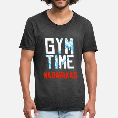 Biceps GYM Time - MADAFAKAS - Mannen Vintage T-shirt