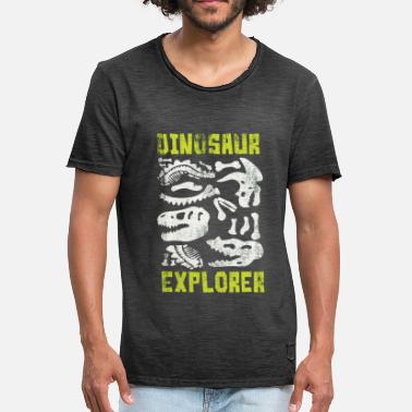 Dinosaur Dinosaur researcher - Men's Vintage T-Shirt