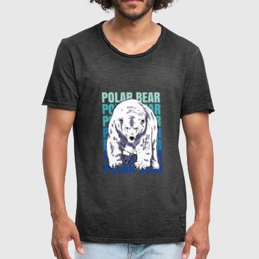 Ours polaire Pôle Nord - T-shirt vintage Homme
