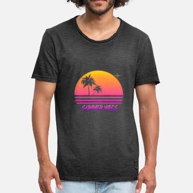 a0fc44440c22 Synthwave Summer Vibes Retro Synth Sunset Style Shirt - Men  39 s Vintage T