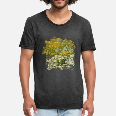 Scent A yellow sea of flowers with honey scent - Men's Vintage T-Shirt
