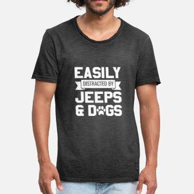 Jeep Quick distracted by jeeps and dogs - Men's Vintage T-Shirt