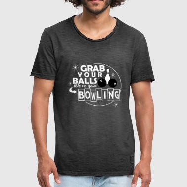Ninepins bowling - Mannen Vintage T-shirt