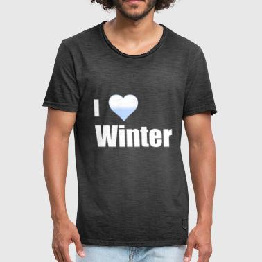 I love winter I I love the winter I Frosty - Men's Vintage T-Shirt