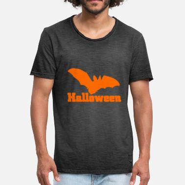 Flagermusevinge Orange bat orange - Herre vintage T-shirt