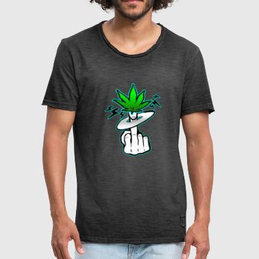 Kiffe Cannabis middlefinger kiff middle finger fuck - Men's Vintage T-Shirt