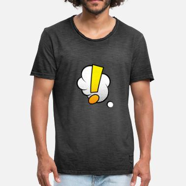 The Comic Strip Presents Comic Comicstyle Comic Strip Exclamation Point - Men's Vintage T-Shirt