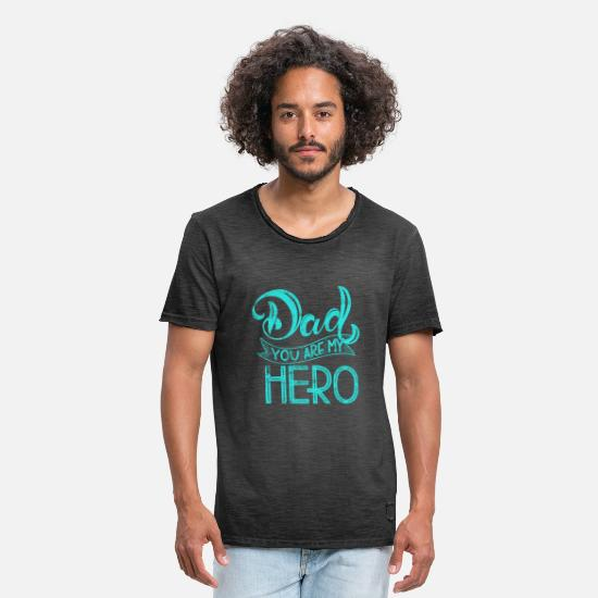 Love T-Shirts - Dad Father's Day Dad hero saying - Men's Vintage T-Shirt washed black
