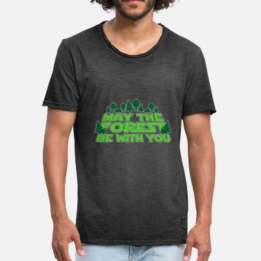 Forest Hiking Nature lover Funny Gift - Mannen Vintage T-shirt