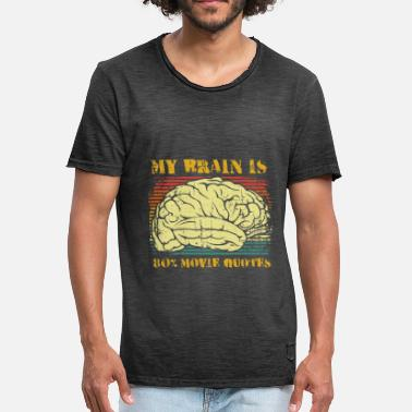 80s Movie My brain is 80% movie quotes - Men's Vintage T-Shirt