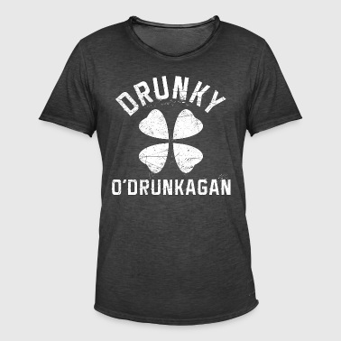 Drunky O'Drunkagan Vintage White - Men's Vintage T-Shirt