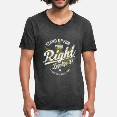 Legalize It Legalize it - Kiffer Geschenk Cannabis Shirt - Männer Vintage T-Shirt