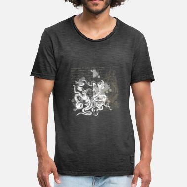 Kraken Vintage Steampunk Nautical Design Octopus - Men's Vintage T-Shirt