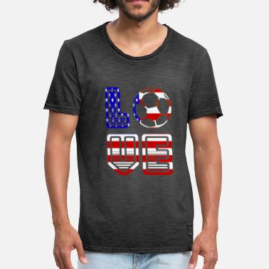 Summer Fairy Tale i Love usa - Summer fairy tale 2018 - Football - Men's Vintage T-Shirt