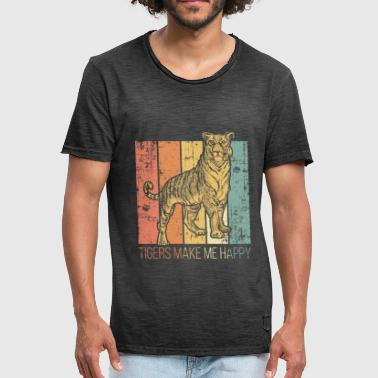 Roofdier Tiger roofdier - Mannen Vintage T-shirt