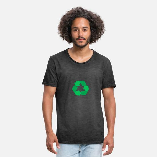 Gift Idea T-Shirts - Recycle it - Men's Vintage T-Shirt washed black