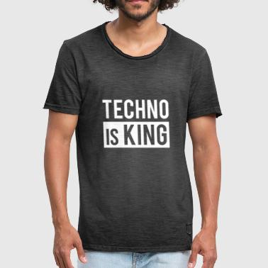 Technobilly Techno is King - Men's Vintage T-Shirt