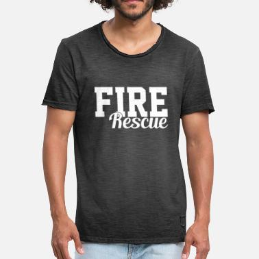 Fire Rescue Fire rescue fire department - Men's Vintage T-Shirt