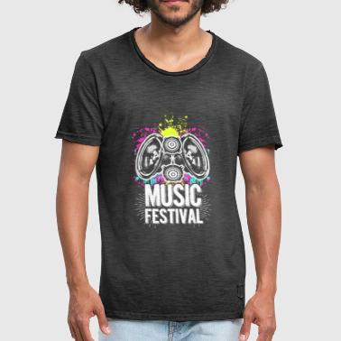 Funky Rock Music Festival Funky - Men's Vintage T-Shirt