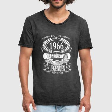 Born Year born 1966 born year of birth year of birth - Men's Vintage T-Shirt