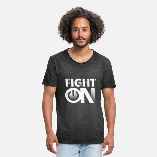 Conflict T-Shirts - Fight On - Men's Vintage T-Shirt washed black
