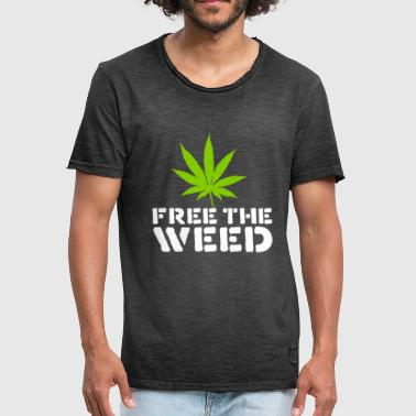 Free The Weed Quote - Men's Vintage T-Shirt