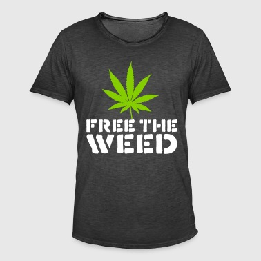 Free The Weed Quote - Mannen Vintage T-shirt