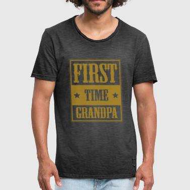 First Time Grandpa For the first time grandpa - gift - Men's Vintage T-Shirt