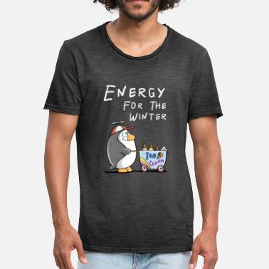 Ice Cream Penguin Energy For The Winter - Penguin With Ice Cream - Ice Cream - Men's Vintage T-Shirt