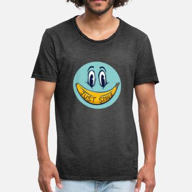 Frutta Banan Gave Just Smile Face Shirt - Herre vintage T-shirt