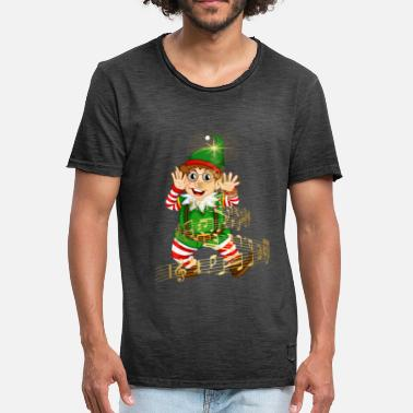 Folletto MUSICAL GEEK ELF - Camiseta vintage hombre