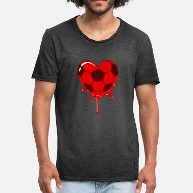 Football Heart Football heart for football - Men's Vintage T-Shirt