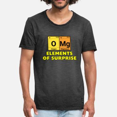Omg OMG - Surprise Periodic Table Chemistry - Mannen vintage T-shirt