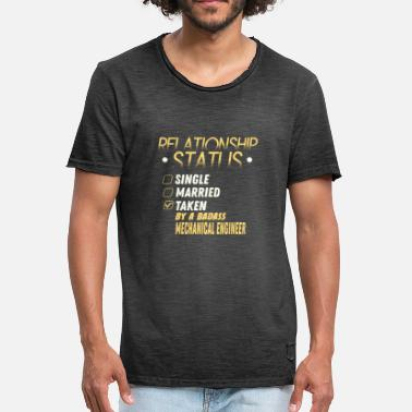 Mechanical Engineering Funny Quotes Relationship Status Taken by a Mechanical Engineer - Men's Vintage T-Shirt