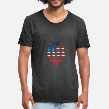 Team Usa USA Drinking Team - Mannen Vintage T-shirt