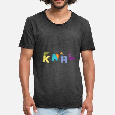 Karl Is My Father Karl T-Shirt Name Child Birthday Gift - Men's Vintage T-Shirt