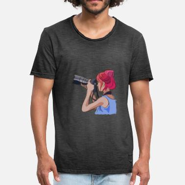 Womens Day Women s day photographer watercolor - Men's Vintage T-Shirt