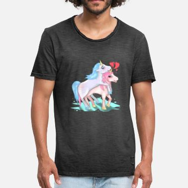 Horny Fuck Unicorn Love Sex Fucking Coupling Horny Gift - Men's Vintage T-Shirt