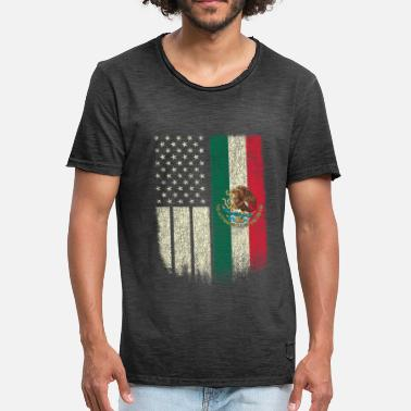 Mexico Mexican American Mexican American Patriot Mexican American Flag - Men's Vintage T-Shirt